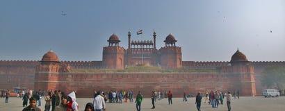 德里红堡在德里市 免版税库存照片