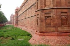 德里红堡在德里,印度 免版税库存图片