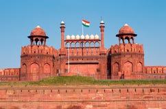 德里红堡在德里 免版税库存照片