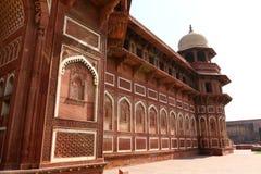 德里红堡在阿格拉印度城市 库存照片