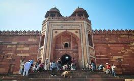 德里红堡在阿格拉,印度 免版税图库摄影