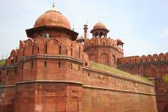 德里红堡的细节。新德里,印度。 库存照片