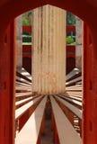 德里详细资料jantar mantar观测所 免版税库存图片