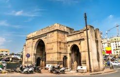 德里门在艾哈迈达巴德,古杰雷特国家的印度 库存照片