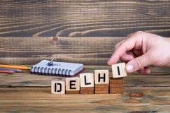 德里,许多数百万人居住的一个城市在印度 库存照片