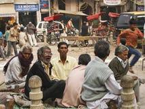 德里ganj生活新的pahar街道 免版税库存照片
