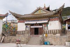 德钦,中国- 2014年8月3日:Feilai寺庙 一个著名修道院 库存图片
