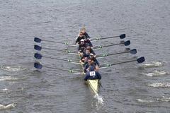德雷克塞尔在查尔斯赛船会人的主要Eights头赛跑  免版税库存照片