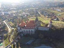 德雷库拉城堡鸟瞰图  图库摄影