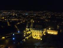德雷库拉城堡鸟瞰图  免版税图库摄影