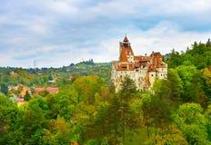 德雷库拉城堡 罗马尼亚 库存照片