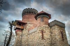 德雷库拉的城堡在布加勒斯特,罗马尼亚 库存照片