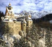 德雷库拉的麸皮城堡, Transylvania,罗马尼亚 库存图片