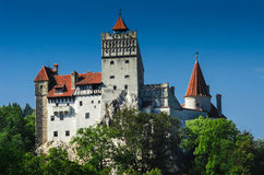 德雷库拉麸皮城堡在Transylvania,罗马尼亚 库存照片