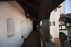 德雷库拉` s城堡麸皮城堡内部  库存照片