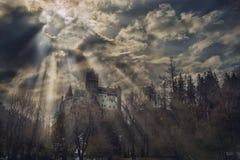 德雷库拉` s城堡 免版税库存照片