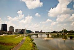 德顿市riverscape 库存图片