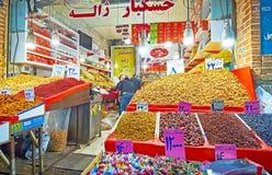 德黑兰盛大义卖市场摊位  图库摄影