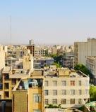 德黑兰街道建筑学,伊朗 库存照片