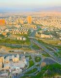 德黑兰鸟瞰图从Milad塔的 伊朗 库存图片