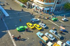 德黑兰,伊朗交通混乱  库存照片
