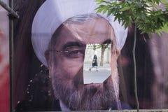 德黑兰省伊朗5月18日, 2017伊朗人2017总统选出 免版税库存照片