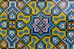 德黑兰,伊朗- 2016年10月05日:在Golestan pa的老马赛克墙壁 免版税库存图片
