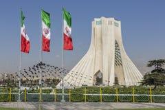 德黑兰,伊朗- 2016年10月04日:Azadi塔的看法在Tehr 库存图片