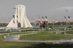 德黑兰,伊朗- 2016年10月04日:Azadi塔的看法在Tehr 免版税图库摄影
