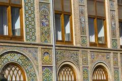德黑兰,伊朗- 2016年10月05日:Golestan宫殿的外部  图库摄影