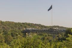 德黑兰,伊朗- 2016年10月05日:Tabiat钢桥梁联络tw 库存照片