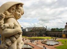 德累斯顿在Zwinger 01的一点天使 免版税库存照片