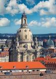 德累斯顿地平线有我们的夫人教会的在德国 库存图片