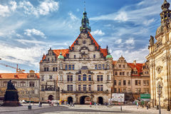 德累斯顿城堡或王宫 免版税库存图片