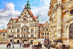 德累斯顿城堡或王宫 免版税库存照片