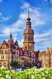 德累斯顿城堡或王宫 图库摄影