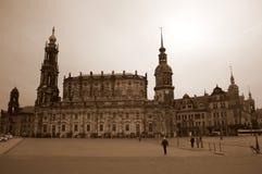 德累斯顿大教堂和城堡 库存照片