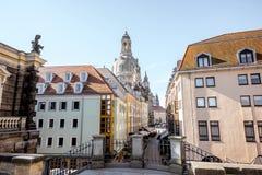 德累斯顿市在德国 库存图片