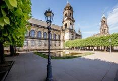 德累斯顿市在德国 免版税库存图片