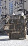 从德累斯顿的老建筑石头在德国 免版税库存图片