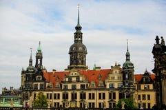 德累斯顿皇家城堡在德国欧洲 库存图片