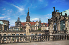 "德累斯顿,德国†""2016年8月13日:Dresdner Zwinger,被重建 免版税库存照片"