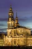 德累斯顿,德国, Hofkirche 库存照片