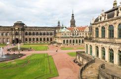 德累斯顿,德国- 2016年7月:Dresdner Zwinger宫殿是designe 库存图片