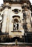 德累斯顿,德国- 5月10 :萨克森的皇家法院的天主教的片段 免版税库存照片
