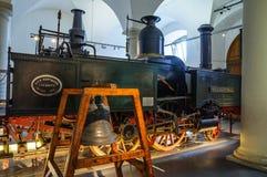 德累斯顿,德国- MAI 2015年:富有 阿特曼开姆尼茨蒸汽火车 库存照片