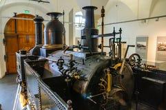 德累斯顿,德国- MAI 2015年:富有 阿特曼开姆尼茨蒸汽火车 库存图片