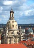 德累斯顿,萨克森,有我们的夫人Fra教会的德国地平线  库存图片