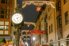 德累斯顿 圣诞节街道 库存图片