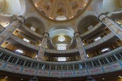 德累斯顿Frauenkirche (我们的夫人教会的内部) 图库摄影